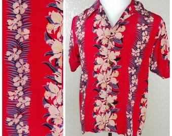 Beautiful Vintage Avanti Silk Hawaiian Shirt