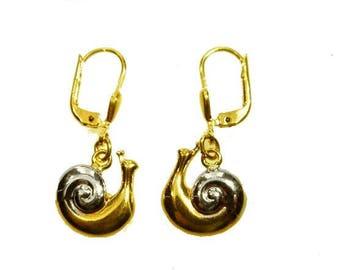 Earrings Gold 333 Snail Earrings earrings