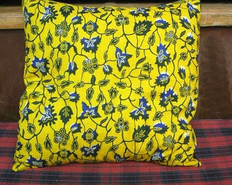 The floral Cushion cover 40x40cm creations Akwaba