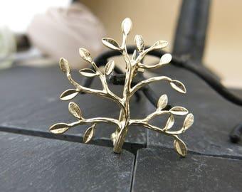 Golden tree BRFA05001 brooch