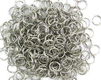 300 8mm silver plated double open jump rings findings 30770