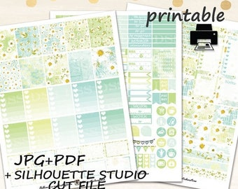 50% OFF SALE Camomile Planner Stickers/Erin Condren Planner Stickers/Printable Planner Stickers/Planner Stickers/Planner Stickers Printable