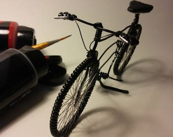wire bicycles, handmade, mountain bike, miniature bicycle