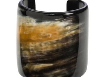 Horn Cuff Bangle Bracelet, Buffalo Horn Bracelet -VT005