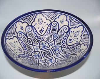 Moroccan Oriental ceramic dish bowl Fruit salad Cereal Ø 30 cm model Jalila