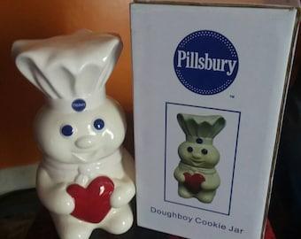 New Pillsbury Dough Boy w/Heart Cookie Jar