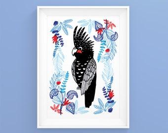"""Illustration """"Perroquet"""" A4 Print"""