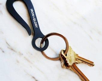 Keyhook Keychain, Flat Black