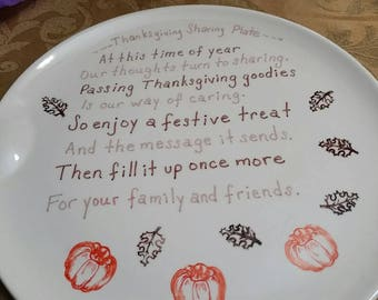 Thanksgiving Sharing Plate, Thanksgiving Giving Plate