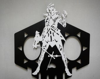Overwatch Sombra handmade wooden wall clock