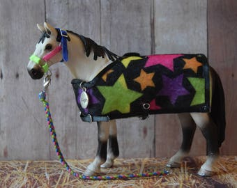 Stable Set for Schleich Horses - Neon Star Print