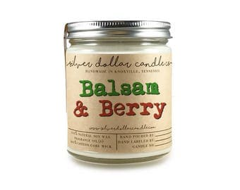 Balsam & Berry 8oz Scented Soy Candle, Fall Candles, Christmas ideas, Fall Candles, Stocking Stuffers, Christmas Candle, Christmas Gifts