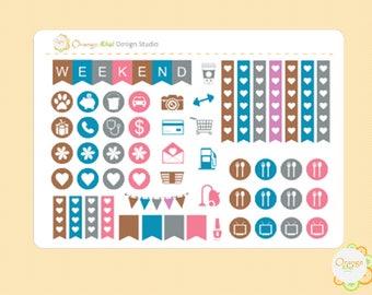 Nerdy Cat Sample Stickers, Planner Stickers, Erin Condren Life Planner