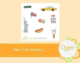 New York Stickers, New York City Planner Stickers, Sampler Stickers, Erin Condren Life Planner