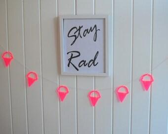 acrylic ice cream bunting // hanging// garland // girls room