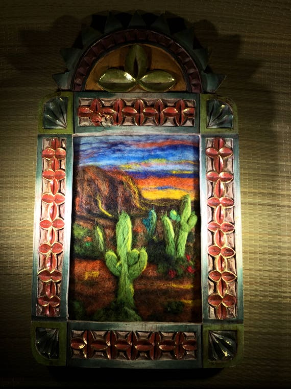 Desert cactus sunset/Sunset painting