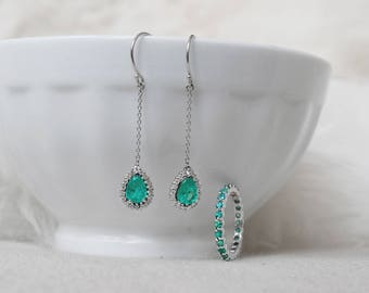 Emerald Earring and Ring Set