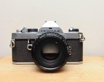 Pentax MX SLR Analogue 35mm Film Camera with SMC Pentax A 50mm Prime Lens F1.7