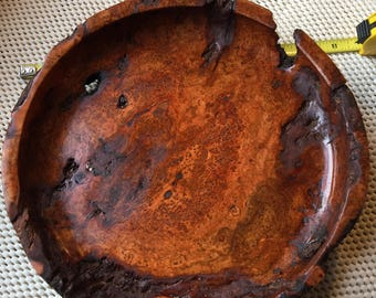 Antique Cherry Burl Plate