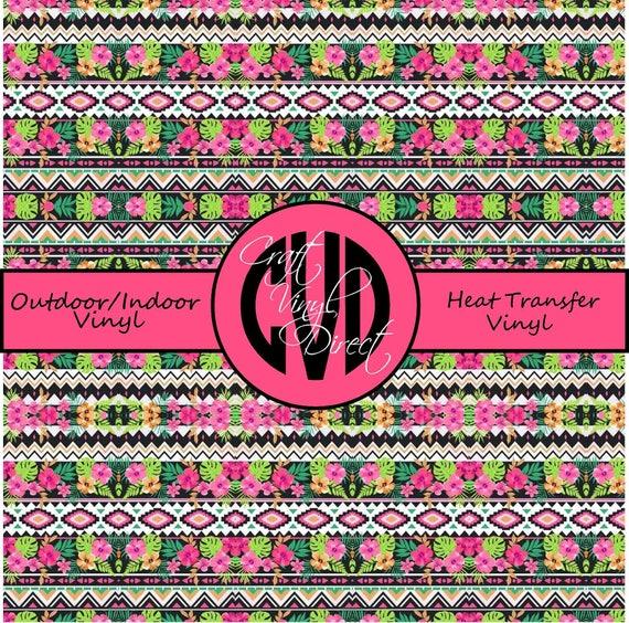 Tropical Patterned Vinyl // Patterned / Printed Vinyl // Outdoor and Heat Transfer Vinyl // Pattern 742