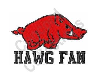 Pig Mascot - Machine Embroidery Design, Hog Mascot - Machine Embroidery Design, Hawg Fan - Machine Embroidery Design