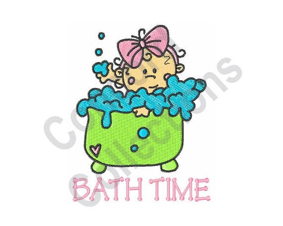 Baby machine embroidery design bath time machine for Bathroom embroidery designs