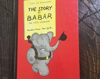 The Story of Babar the Little Elephant Random House New York Jean de Brunhoff