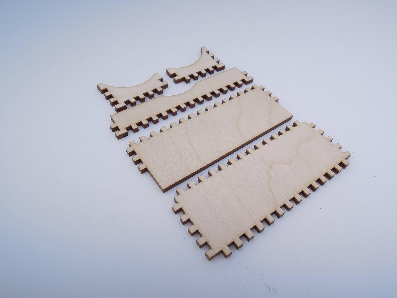 Wooden Business Card Holder for Crafts - Laser Cut - Card Holder ...