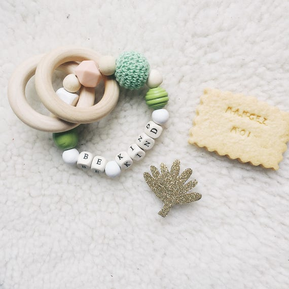 Be Kind - Baby Teether - Handmade - rattle soft Cactus - the Rochelle