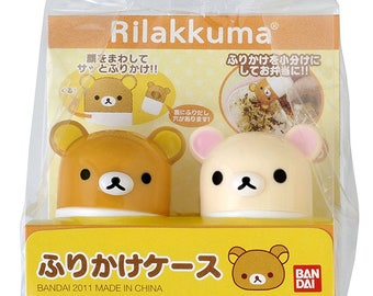 Rilakkuma and KorilakkumaCondiment Containers - For Japanese Furikake  - Travel Size