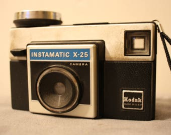 Kodak Instamatic X-25 Vintage Camera slightly worn