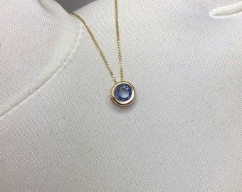 NATURAL Ceylon Blue Sapphire Gold Pendant 0.64ct BRAND NEW Necklace Jewellery