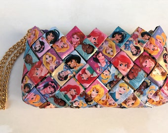 Princess wallet, candy wrapper wallet, disney princesses purse, princess purse, princess collection