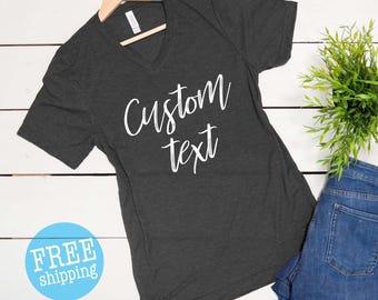 Custom Shirt, Customized tee, Personalized shirt, Custom Text on shirt,
