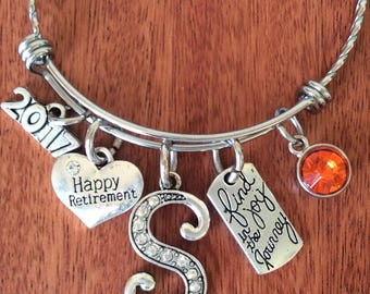 Retirement Gifts, Retirement Gifts For Women, Teacher Retirement Gift, Retirement Jewelry, Retirement Bracelet, Personalized Retirement Gift