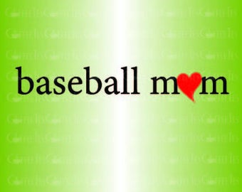 Baseball Mom : DOWNLOADABLE  FILE ONLY png. pdf. svg. dxf. Use files for screen printing, vinyl and more