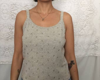 Vintage 90's beige tank top cardigan set