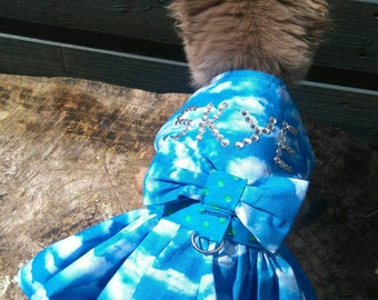Dog Clothes - Chihuahua Clothes - Chihuahua Dress - Dog Dress - Small Dog Clothes - Harness Coat - Chihuahua - Dog Outfit - Personalized Dog