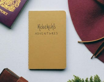 Personalised Travel Journal- Adventure Notebook-Travel Notebook- Holiday Journal