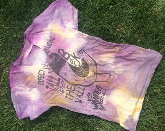 The Wonder years Vintage and reworked tie dyed and bleached band top