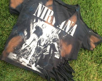 Nirvana vintage and reworked off the shoulder and bleached vand top