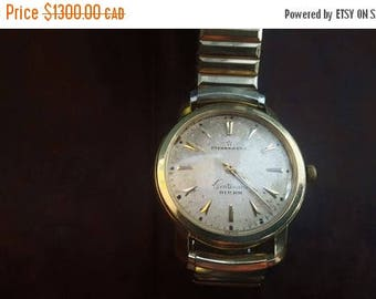 ON SALE Vintage 18k Gold Birks Eternamatic Centenaire