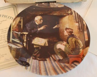 """1988 Norman Rockwell's """"The Veteran"""" 8.5"""" Collector Plate - Heritage Series in Original Box"""