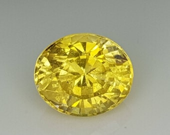 Loose Yellow Sapphire | Oval Cut | 6.40mm | Eye Clean | Unheated | Untreated | Ceylon Yellow sapphire | Free Shipping
