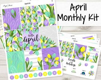 A La Carte | April Monthly Kit | Planner Stickers