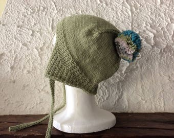 Peruvian hat for teen or adult tender green