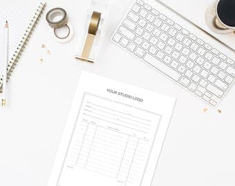 Order Form & Invoice Template for Photographers