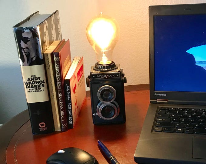 Vintage Camera Lamp, Argoflex Twin Lens Reflex