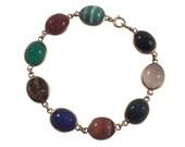 14k Yellow Gold Scarab Bracelet, Vintage Bracelet, Vintage Jewelry, Scarab Jewelry, Estate Jewelry