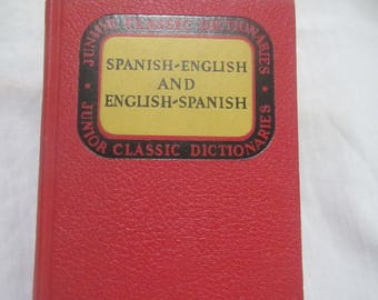 1947 ** Junior Dictionaries Spanish- English and  English-Spanishs ** Thumb Tab ** Wessely and Girones  ** sj